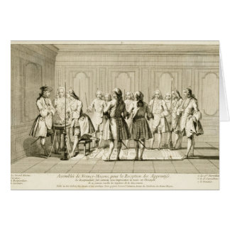 Assembly of Free Masons to Initiate an Apprentice, Greeting Card