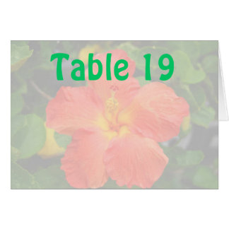 Assigned Seating Table Number tent cards