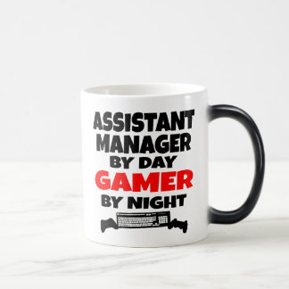 Assistant Manager by Day Gamer by Night Morphing Mug
