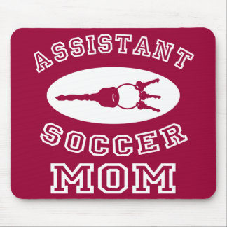 Assistant Soccer Mom (white letters) Mouse Pad