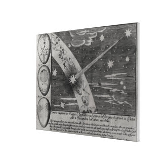 Astrological diagram of the comet stretched canvas prints