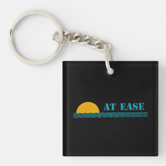 """""""At Ease"""" square custom keychain"""