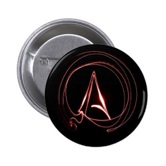 Atheist in Red 6 Cm Round Badge