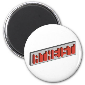 Atheist Optical Illusion 6 Cm Round Magnet