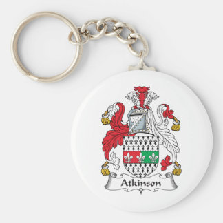 Atkinson Family Crest Basic Round Button Key Ring