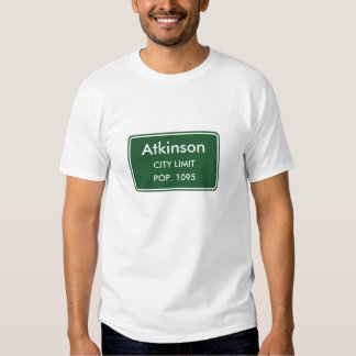 Atkinson Nebraska City Limit Sign T Shirts