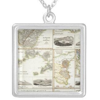 Atlantic Volcanic Activity Square Pendant Necklace