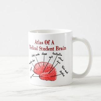Atlas of Medical Student Brain Basic White Mug