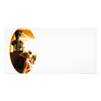 Attic Girl Customized Photo Card