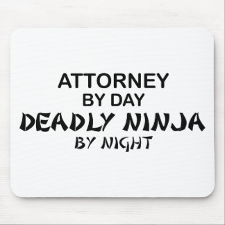 Attorney Deadly Ninja by Night Mouse Pad