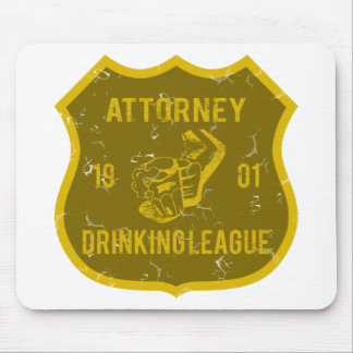 Attorney Drinking League Mouse Pad