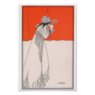 Aubrey Beardsley Isolde Izolda Vintage art Poster