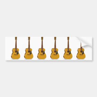 Auditorium Acoustic Guitar Bumper Sticker