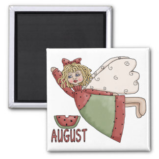 August Country Angel Design Square Magnet