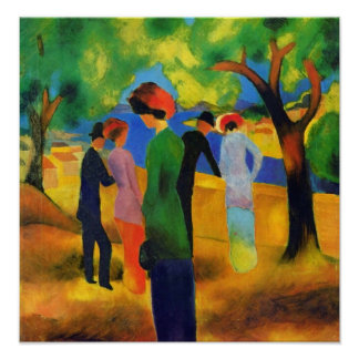 August Macke - Lady in a Green Jacket Poster