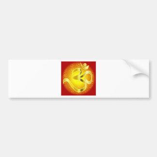 Aum or Om Symbol in yellows & reds Bumper Sticker