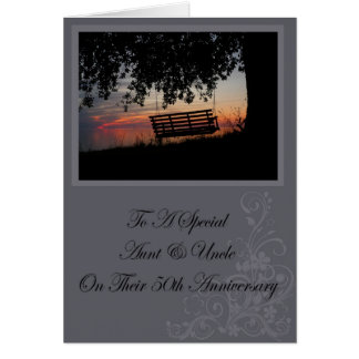 Aunt & Uncle 50th Anniversary Card