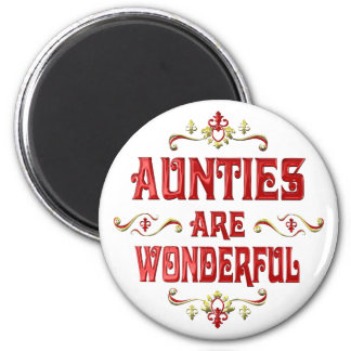 Aunties are Wonderful 6 Cm Round Magnet