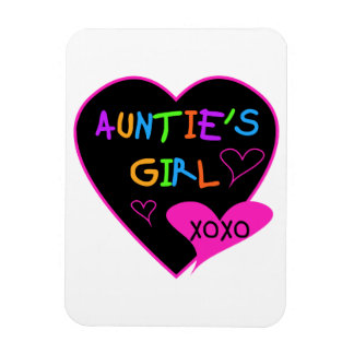 Aunties Girl t shirts, mugs, hats, and more Rectangular Photo Magnet