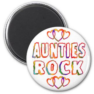 Aunties Rock 6 Cm Round Magnet