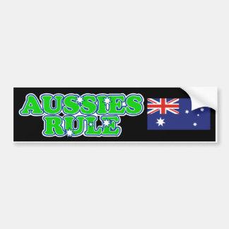 Aussies Rule Bumper Sticker