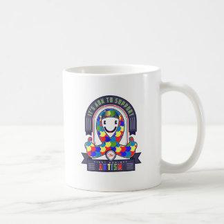 Austim - Retro Charity Ribbon - Basic White Mug