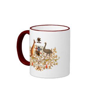 australia coat of arms ringer mug