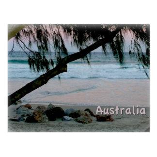 Australian Sunest - Pink Reflections off the Sand Postcard