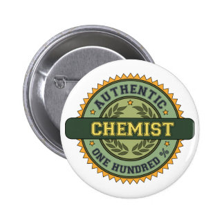 Authentic Chemist 6 Cm Round Badge