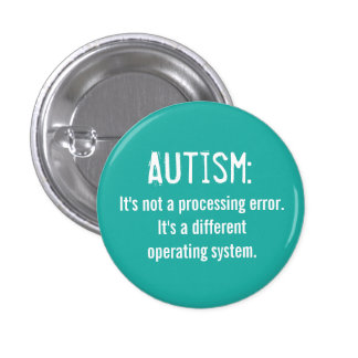 Autism Acceptance Button: Operating System 3 Cm Round Badge