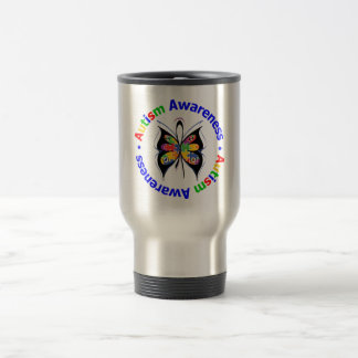 Autism Awareness Butterfly Stainless Steel Travel Mug
