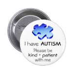 Autism Awareness Lapel Pin - Button
