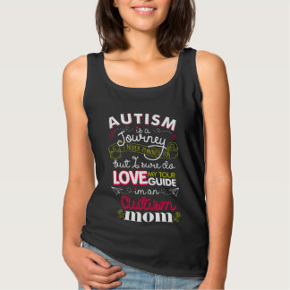 Autism Is A Journey I Never Planned For Autism Mom Basic Tank Top