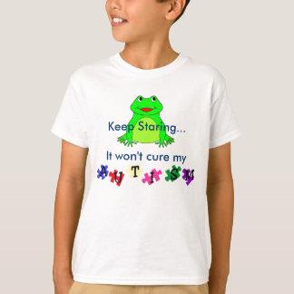 autismprimarywb, frog, Keep Staring...It won't ... Tshirts