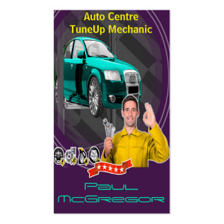 Auto It centers - TuneUp Mechanic Business Card