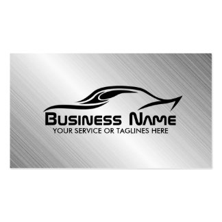 Automotive Auto Repair Cool Car Shape Metal Steel Pack Of Standard Business Cards