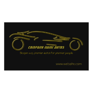 Autotrade Car - Gold Sportscar on black template Pack Of Standard Business Cards
