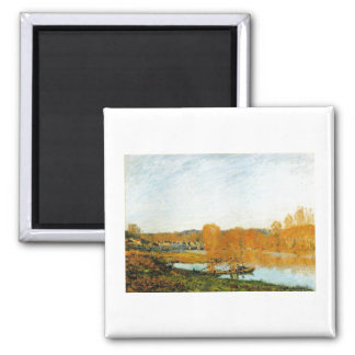 Autumn Banks ofthe Seine near Bougival 1873 Sisley Square Magnet