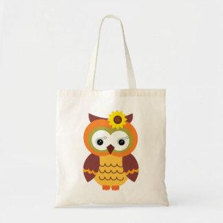 Autumn Fall Owl Budget Tote Bag
