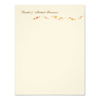 Autumn Foliage Thank you Card 11 Cm X 14 Cm Invitation Card