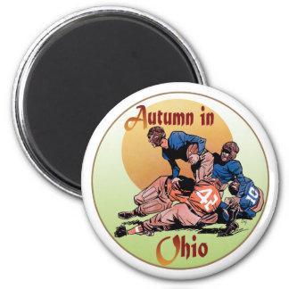Autumn in Ohio 6 Cm Round Magnet