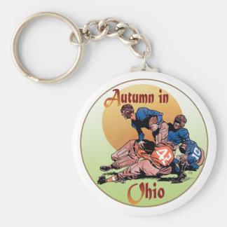 Autumn in Ohio Basic Round Button Key Ring