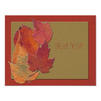 Autumn Leaves Response Card 11 Cm X 14 Cm Invitation Card