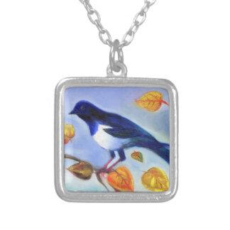 Autumn Magpie 2012 Square Pendant Necklace