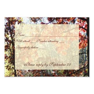 Autumn Morn RSVP 9 Cm X 13 Cm Invitation Card