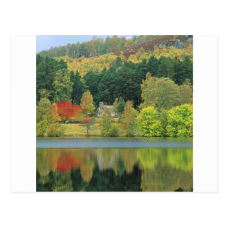 Autumn Tranquil Waters Loch Of Eileen Scotland Postcard