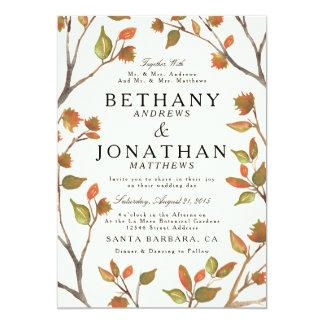 Autumn Trees Wedding 13 Cm X 18 Cm Invitation Card
