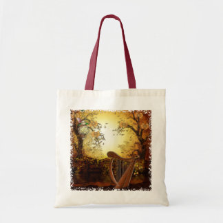 Autumn Wind Whimsical Fantasy Budget Tote Bag