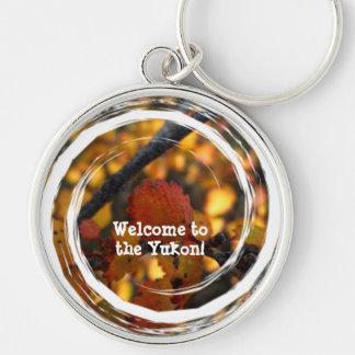AV Autumn Vibrance Silver-Colored Round Key Ring