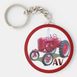AV High Crop Basic Round Button Key Ring